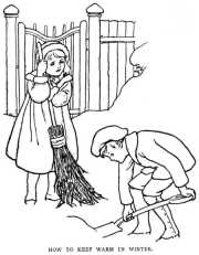 Children shovelling-How to keep warm in winter