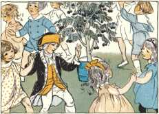 Children celibrating George Washington's birthday