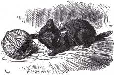 ...the kitten had been having a grand game of romps with the ball of worsted Alice had been trying to wind up,...