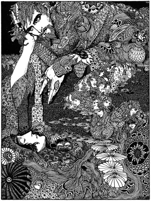 Harry Clarke illustration from Edgar Allen Poe's Tales of Mystery and Imagination